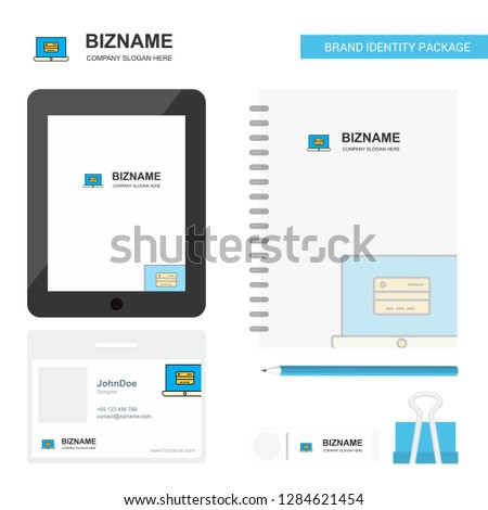 Online banking  Business Logo, Tab App, Diary PVC Employee Card and USB Brand Stationary Package Design Vector Template #1284621454