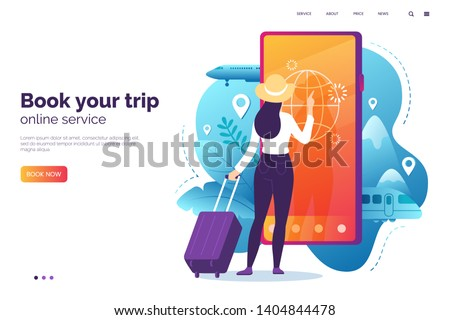 online booking service vector