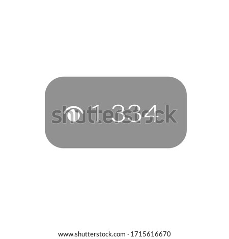 Online Broadcast Button Template, Number of Viewers. Vector illustration. Live streaming social media web network concept. Broadcast online technology stream video and music. Internet marketing. Photo stock ©
