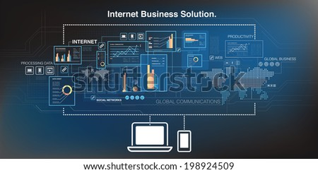 Online business and cloud computing