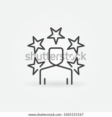 online celebrity concept icon