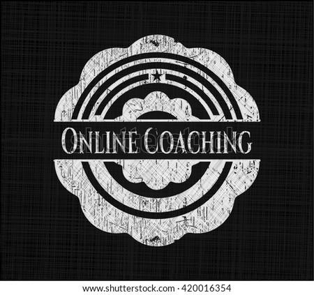 Online Coaching chalk emblem