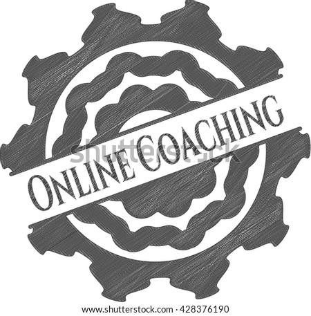 Online Coaching drawn with pencil strokes