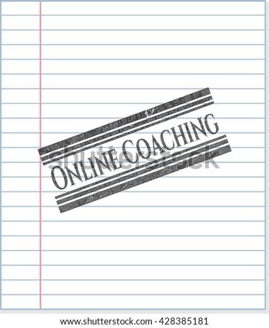 Online Coaching pencil draw