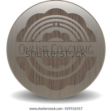 Online Coaching retro style wood emblem
