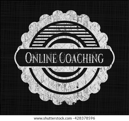Online Coaching with chalkboard texture