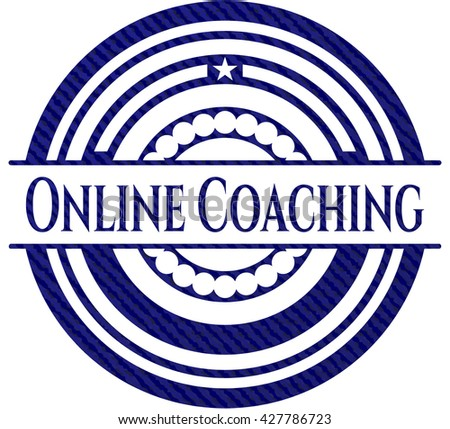 Online Coaching with denim texture
