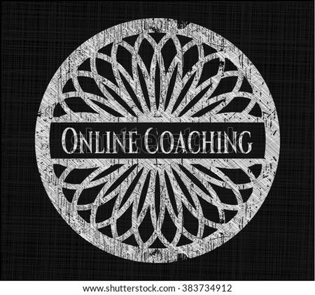 Online Coaching written on a blackboard