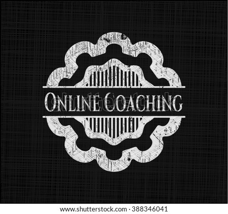 Online Coaching written with chalkboard texture