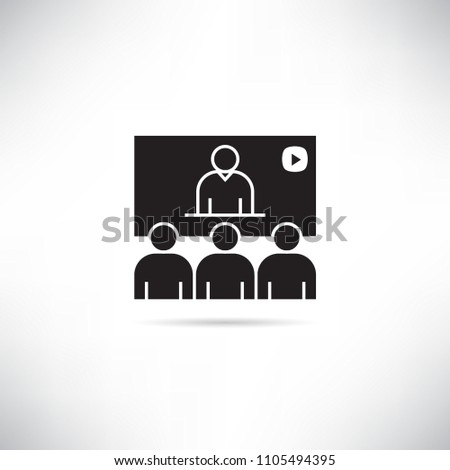 online conference, teleconference icon