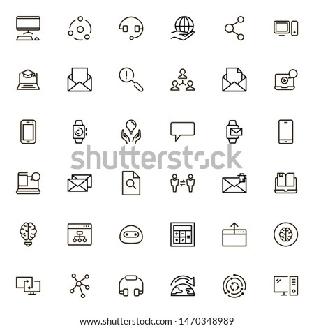 Online consultation icon set. Collection of high quality black outline logo for web site design and mobile apps. Vector illustration on a white background