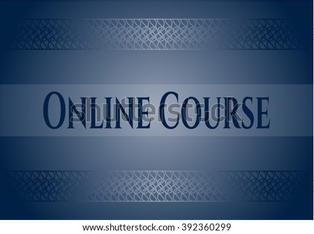 Online Course card, poster or banner