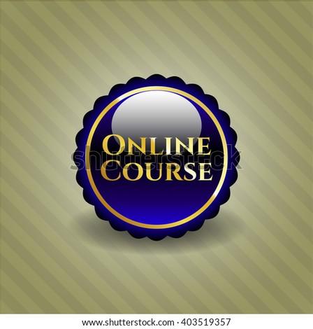 Online Course golden badge
