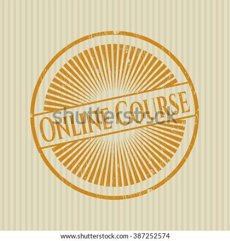 Online Course grunge seal