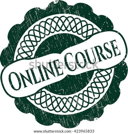Online Course rubber grunge texture stamp
