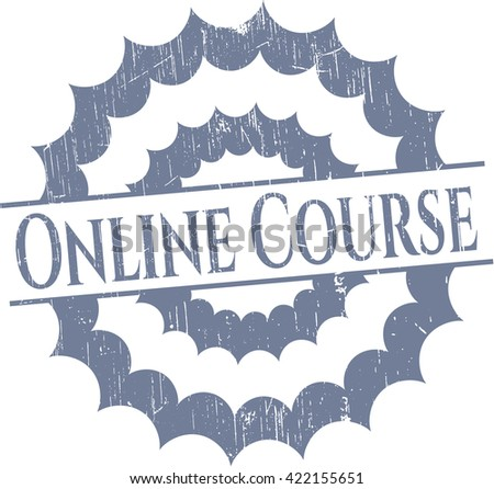 Online Course rubber seal with grunge texture