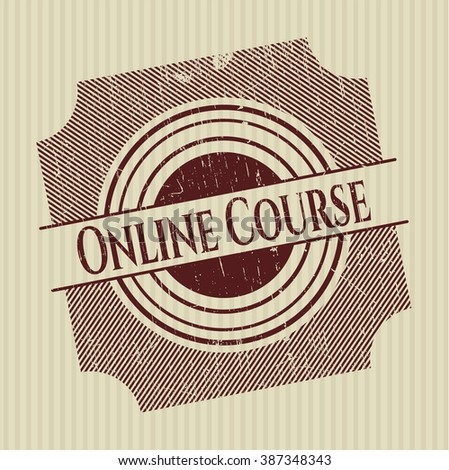 Online Course rubber stamp