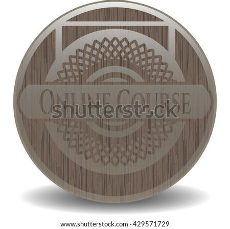 Online Course vintage wood emblem