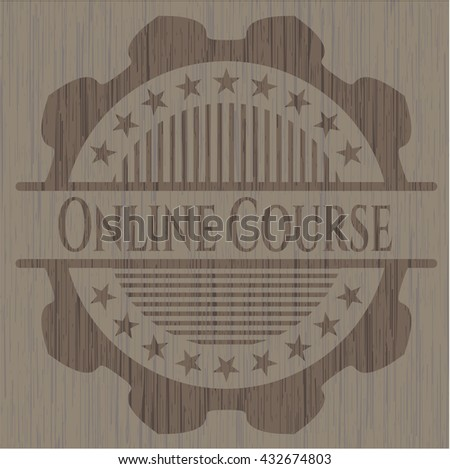 Online Course wood signboards