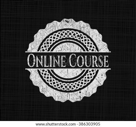 Online Course written on a chalkboard
