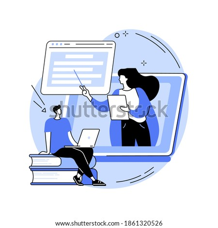 Online courses abstract concept vector illustration. Free online courses, certificate diploma, business school, digital education, elearning, watching webinar, training courses abstract metaphor.