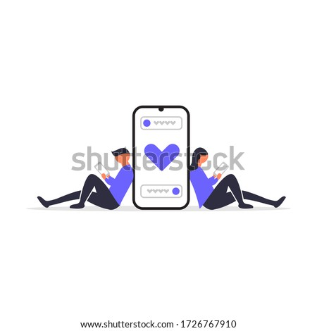 Online dating. Perfect for covers, brochures, posters, books, banners, leaflets, landing pages, social media content.