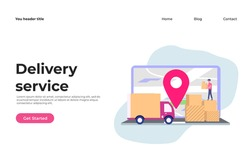 Online Delivery Service concept illustration concept for web landing page template, banner, and presentation