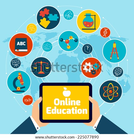 online education concept with