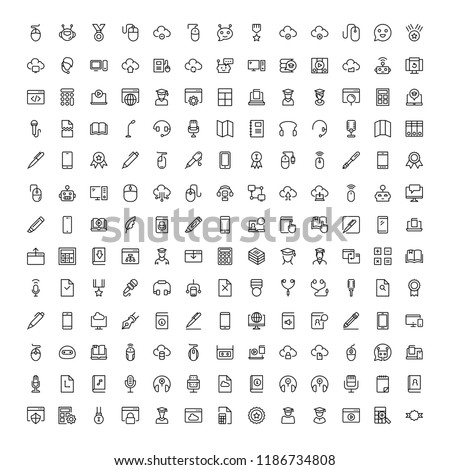 Online education icon set. Collection of high quality black outline logo for web site design and mobile apps. Vector illustration on a white background.