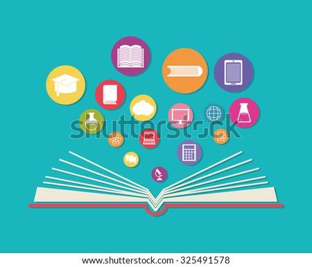online education theme design, vector illustration eps10.