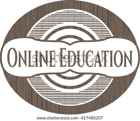 Online Education wood emblem