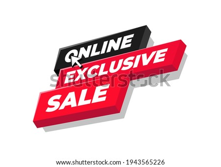 Online exclusive sale tag or banner design. Foto stock ©