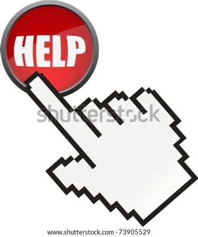 online help button and cursor eps10