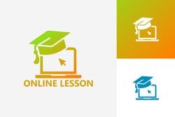Online Lesson Logo Template Design Vector, Emblem, Design Concept, Creative Symbol, Icon