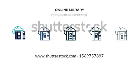 online library icon in