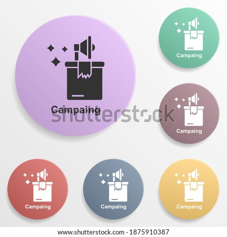 Online marketing, campaing badge color set icon. Simple glyph, flat vector of online marketing icons for ui and ux, website or mobile application Foto stock ©