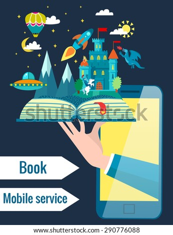 online mobile library creative