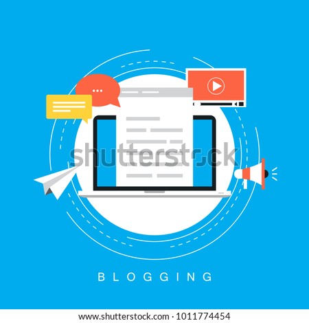 Online news, blog post, newspaper, news website flat vector illustration. News update, digital content, blogging, vlog for web banner and apps