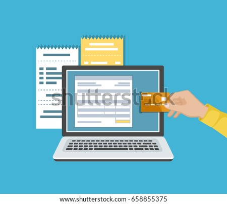 Pay by electronic check online shopping