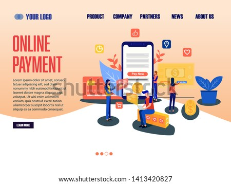 Online Payment Landing Page, website template