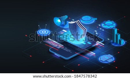 Online payment via credit card protection on smartphone concept. Financial transactions, non-cash payment transactions. The Card and the payment system, monetary currency, the concept of payment NFC