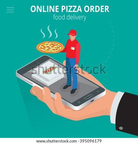 online pizza ecommerce concept