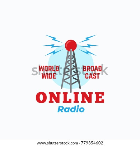 online radio abstract vector...