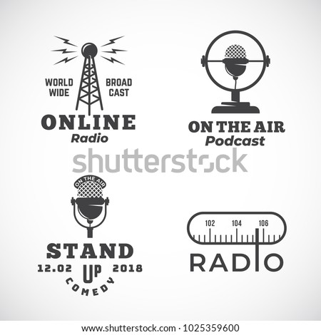 online radio and microphone...