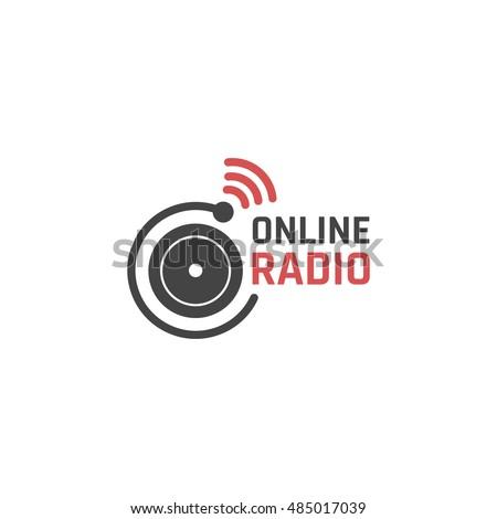 Online radio icon or logo design. Vector sign