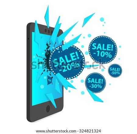 online sales icon isometric