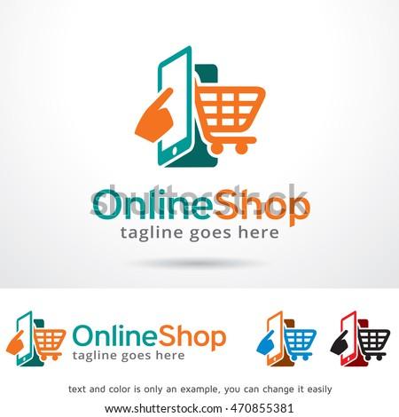 online shop logo template...