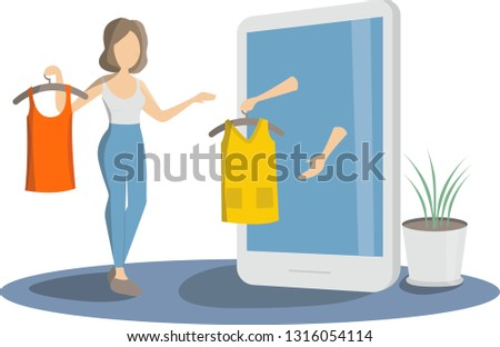 online shoping concept girl