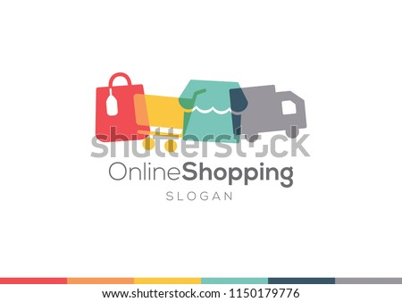 online shopping and ecommerce logo design