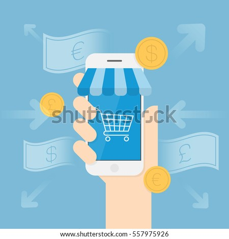Online Shopping. Business Concept Illustration.